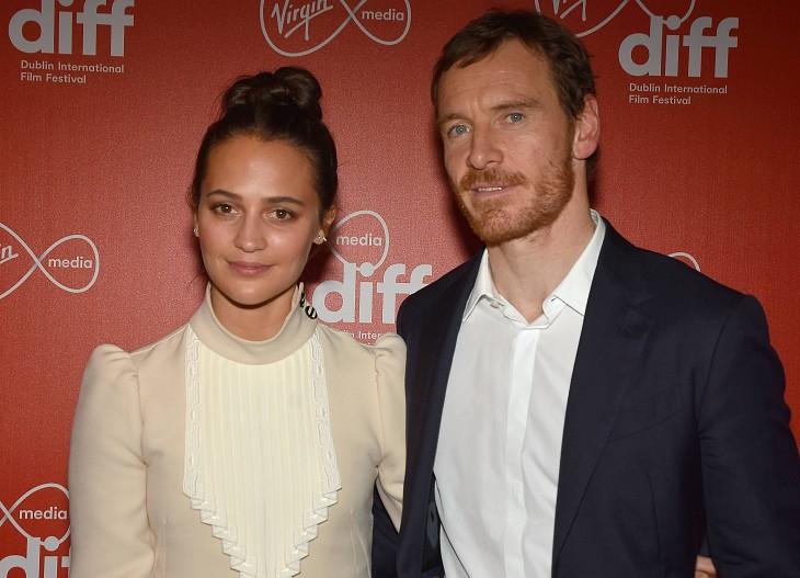 Майкл Фассбендер и Алисия Викандер вместе посетили дублинский кинофестиваль